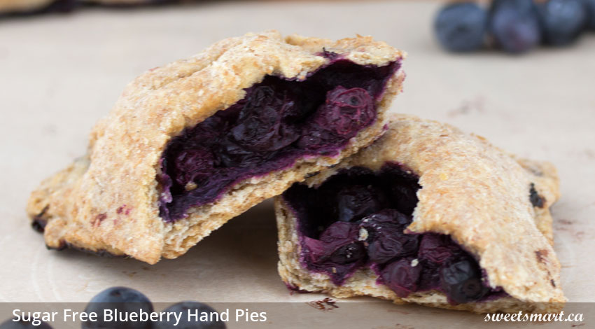 Low Sugar Blueberry Hand Pies