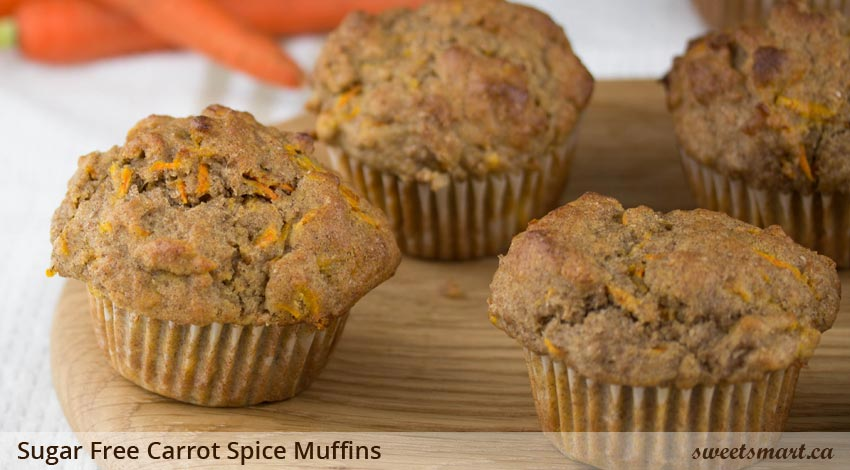 Low Sugar Carrot Spice Muffins