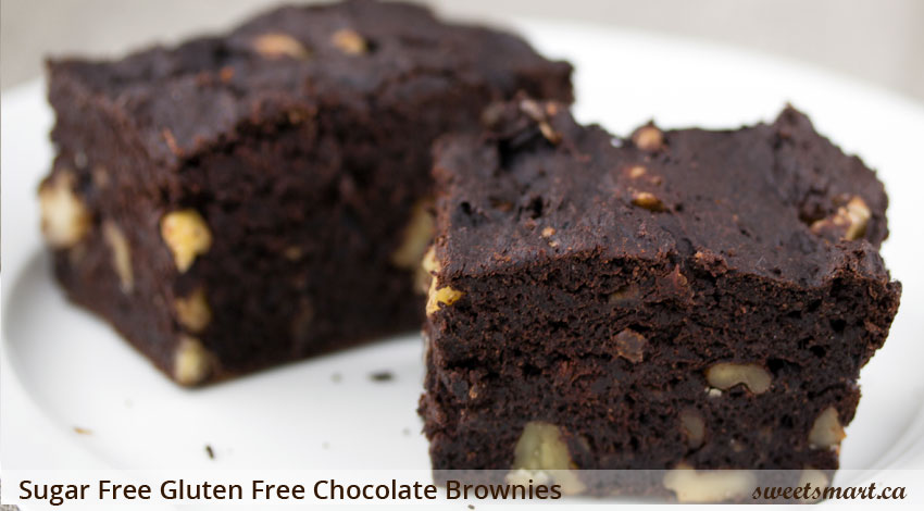 Low Sugar Gluten Free Chocolate Brownies