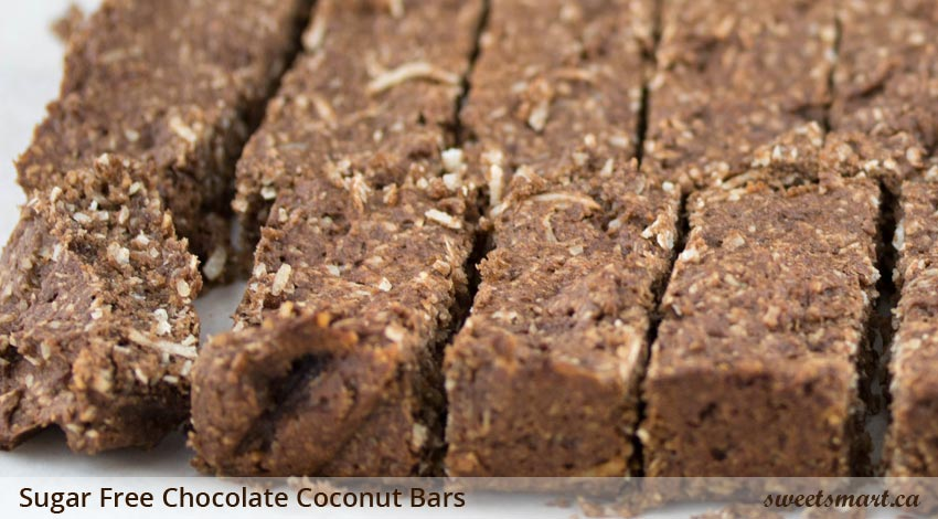 Low Sugar Chocolate Coconut Bars