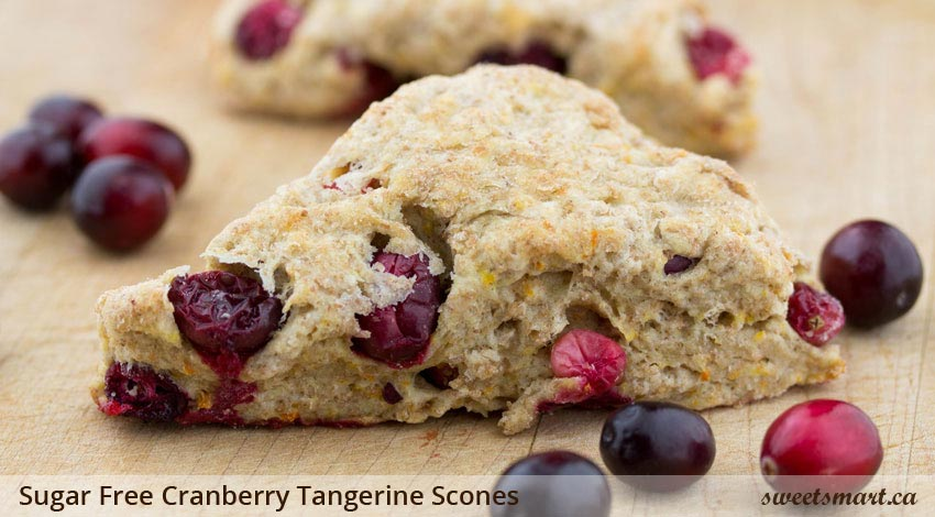 Low Sugar Cranberry Tangerine Scones