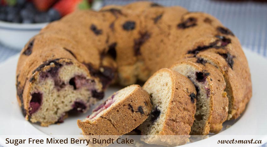 Low Sugar Mixed Berry Bundt Cake