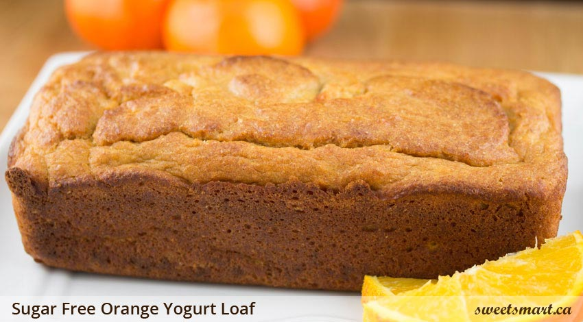 Low Sugar Orange Yogurt Loaf