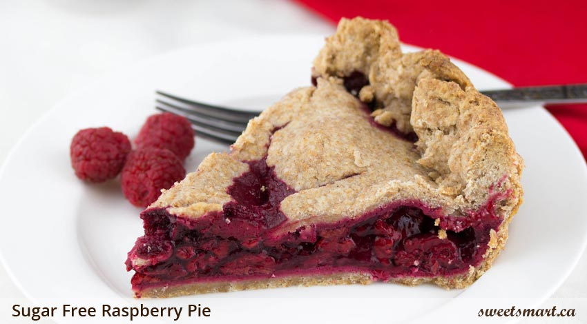 Low Sugar Raspberry Pie