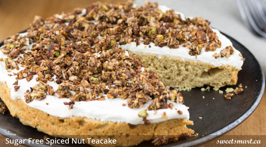 Low Sugar Spiced Nut Teacake
