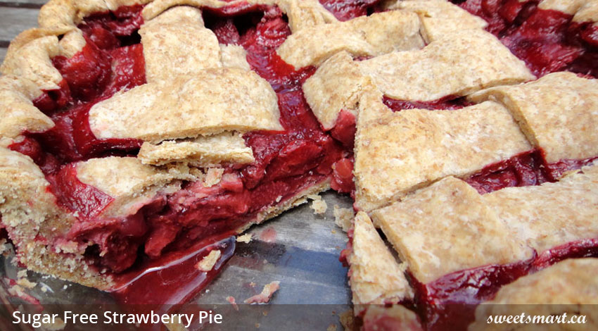 Low Sugar Strawberry Pie
