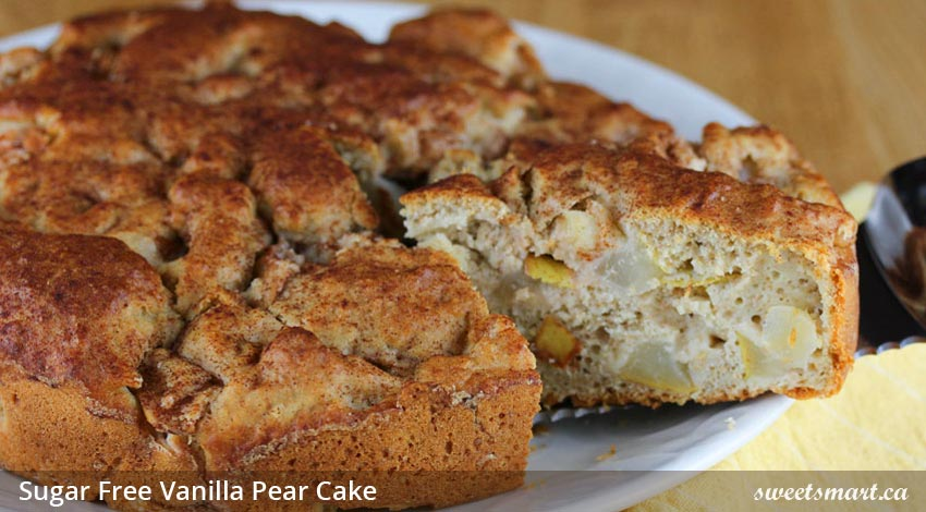 Low Sugar Vanilla Pear Cake