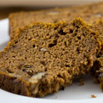 Low Sugar Pumpkin Nut Bread