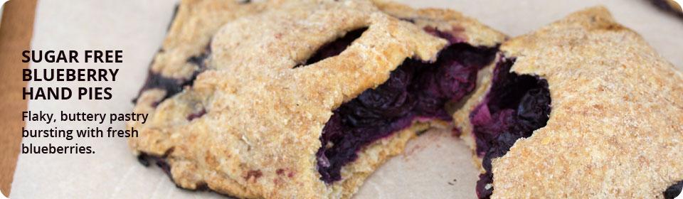 Sugar   free blueberry hand pies