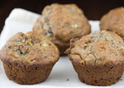 Low Sugar Banana Walnut Muffins
