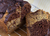 Low Sugar Chocolate Marble Banana Bread