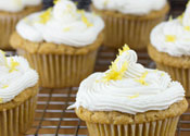 Low Sugar Lemon Buttermilk Cupcakes