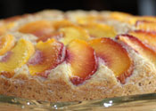 Low Sugar Peach Almond Cake